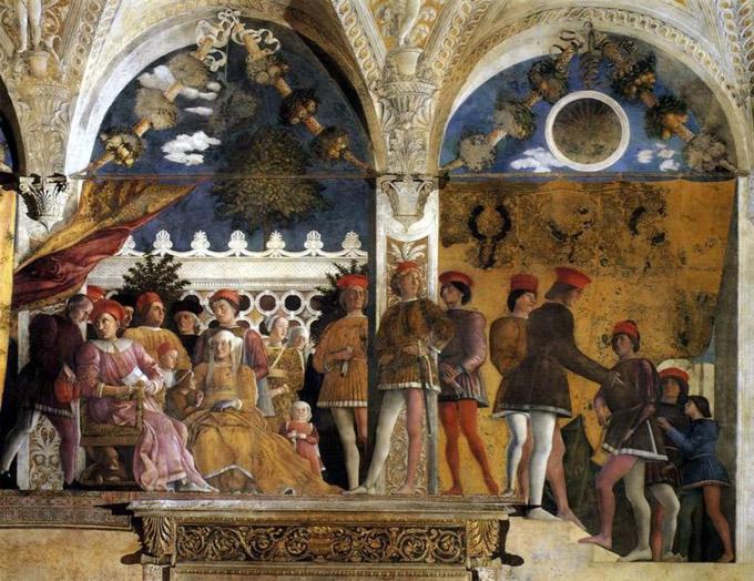 Arte andrea mantegna for Mantova palazzo ducale camera degli sposi